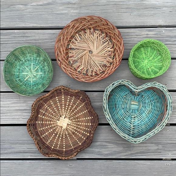 Vintage Other - SOLD ❤️ Boho/Vintage Basket Wall Set 🌹